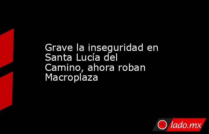 Grave la inseguridad en Santa Lucía del Camino, ahora roban Macroplaza. Noticias en tiempo real