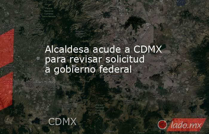 Alcaldesa acude a CDMX para revisar solicitud a gobierno federal. Noticias en tiempo real