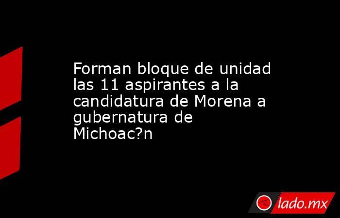 Forman bloque de unidad las 11 aspirantes a la candidatura de Morena a gubernatura de Michoac?n. Noticias en tiempo real
