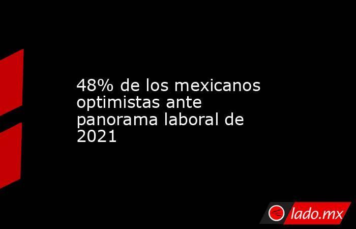48% de los mexicanos optimistas ante panorama laboral de 2021. Noticias en tiempo real