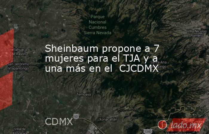 Sheinbaum propone a 7 mujeres para el TJA y a una más en el  CJCDMX. Noticias en tiempo real