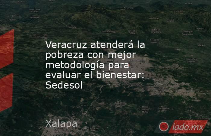 Veracruz atenderá la pobreza con mejor metodología para evaluar el bienestar: Sedesol. Noticias en tiempo real