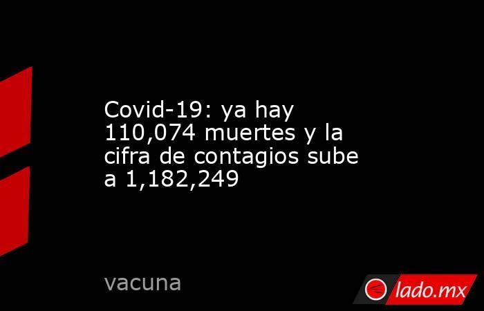 Covid-19: ya hay 110,074 muertes y la cifra de contagios sube a 1,182,249. Noticias en tiempo real
