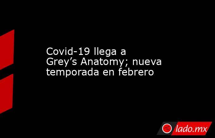 Covid-19 llega a Grey's Anatomy; nueva temporada en febrero. Noticias en tiempo real
