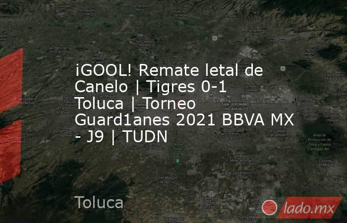 ¡GOOL! Remate letal de Canelo | Tigres 0-1 Toluca | Torneo Guard1anes 2021 BBVA MX - J9 | TUDN. Noticias en tiempo real