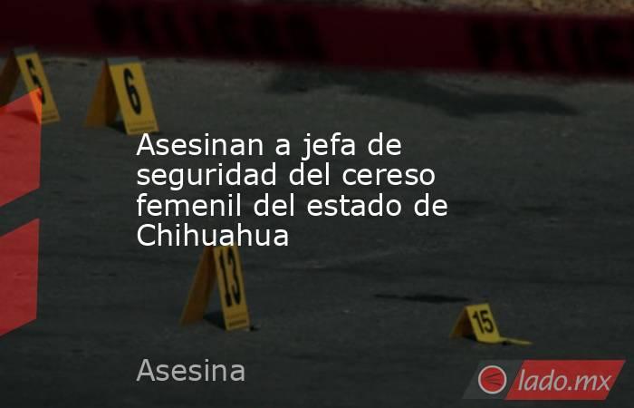 Asesinan a jefa de seguridad del cereso femenil del estado de Chihuahua. Noticias en tiempo real