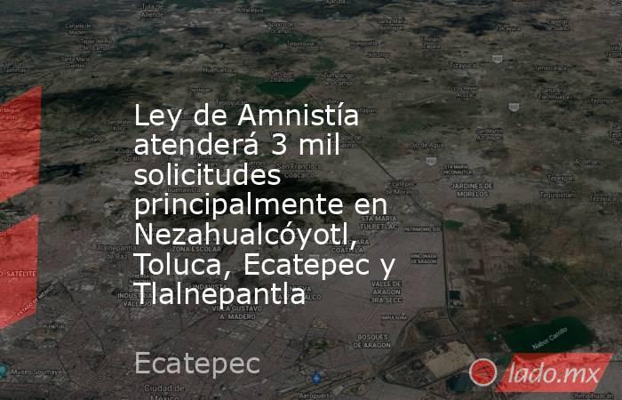 Ley de Amnistía atenderá 3 mil solicitudes principalmente en Nezahualcóyotl, Toluca, Ecatepec y Tlalnepantla. Noticias en tiempo real