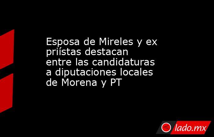 Esposa de Mireles y ex priístas destacan entre las candidaturas a diputaciones locales de Morena y PT. Noticias en tiempo real