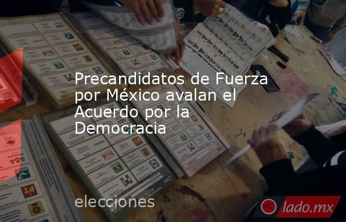 Precandidatos de Fuerza por México avalan el Acuerdo por la Democracia. Noticias en tiempo real
