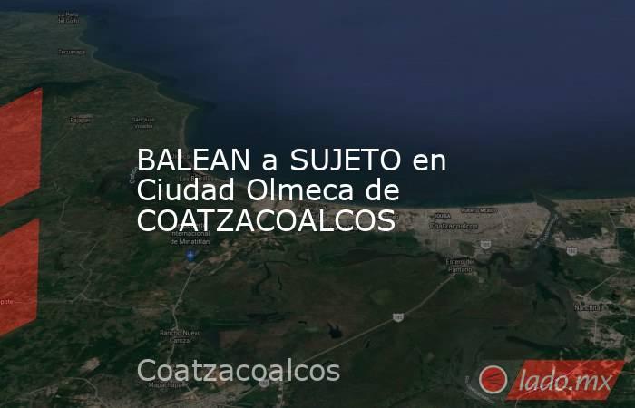 BALEAN a SUJETO en Ciudad Olmeca de COATZACOALCOS. Noticias en tiempo real