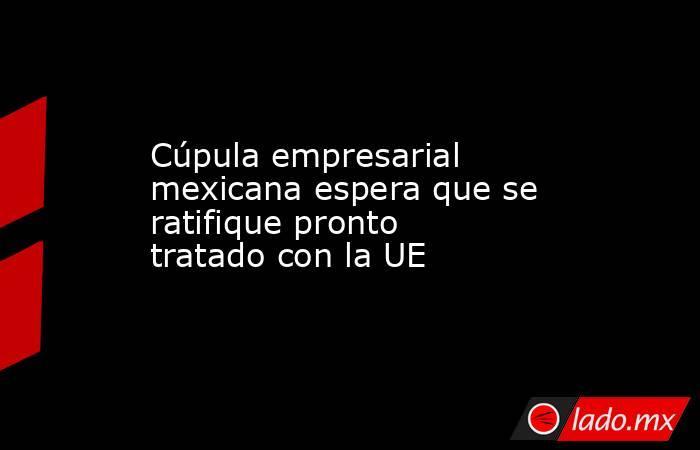 Cúpula empresarial mexicana espera que se ratifique pronto tratado con la UE. Noticias en tiempo real