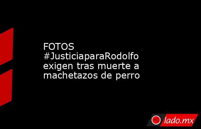 FOTOS #JusticiaparaRodolfo exigen tras muerte a machetazos de perro. Noticias en tiempo real
