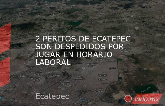 2 PERITOS DE ECATEPEC SON DESPEDIDOS POR JUGAR EN HORARIO LABORAL. Noticias en tiempo real