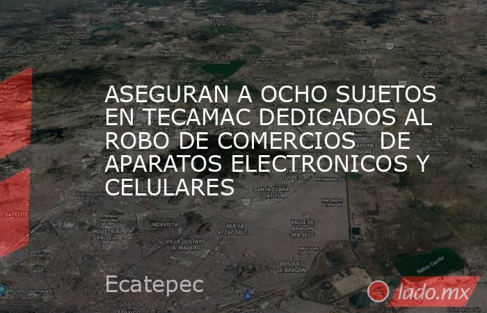 ASEGURAN A OCHO SUJETOS EN TECAMAC DEDICADOS AL ROBO DE COMERCIOS   DE APARATOS ELECTRONICOS Y CELULARES. Noticias en tiempo real