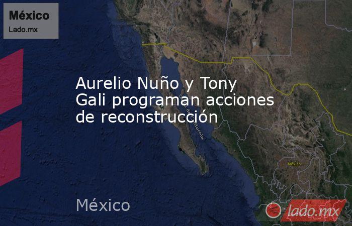 Aurelio Nuño y Tony Gali programan acciones de reconstrucción. Noticias en tiempo real