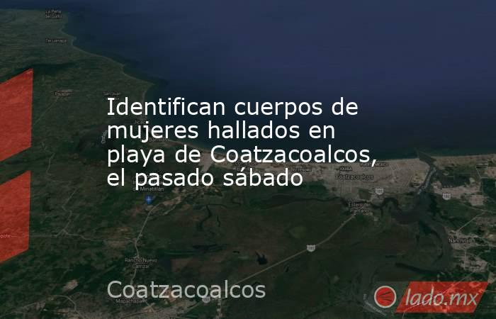 Identifican cuerpos de mujeres hallados en playa de Coatzacoalcos, el pasado sábado. Noticias en tiempo real