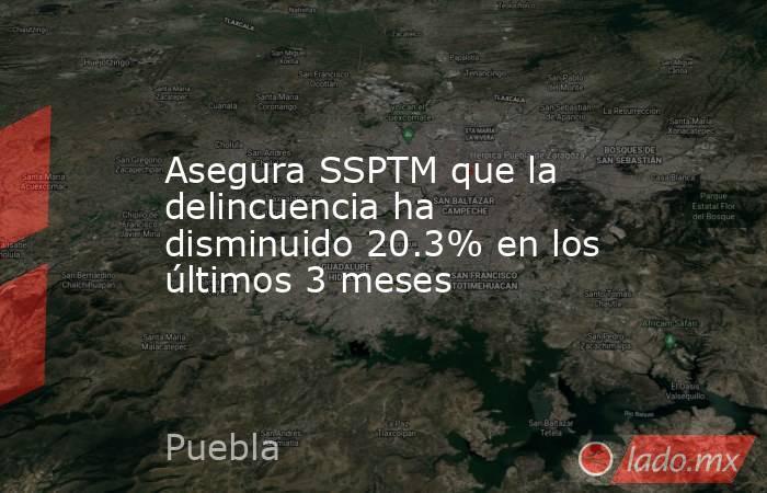 Asegura SSPTM que la delincuencia ha disminuido 20.3% en los últimos 3 meses. Noticias en tiempo real