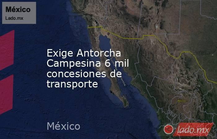 Exige Antorcha Campesina 6 mil concesiones de transporte. Noticias en tiempo real