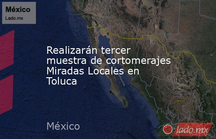 Realizarán tercer muestra de cortomerajes Miradas Locales en Toluca. Noticias en tiempo real