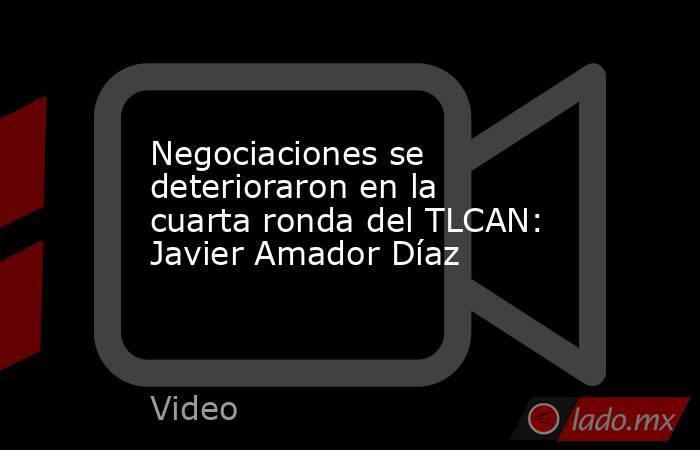 Negociaciones se deterioraron en la cuarta ronda del TLCAN: Javier Amador Díaz. Noticias en tiempo real