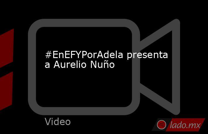 #EnEFYPorAdela presenta a Aurelio Nuño. Noticias en tiempo real