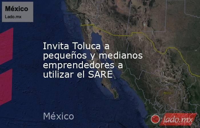Invita Toluca a pequeños y medianos emprendedores a utilizar el SARE. Noticias en tiempo real