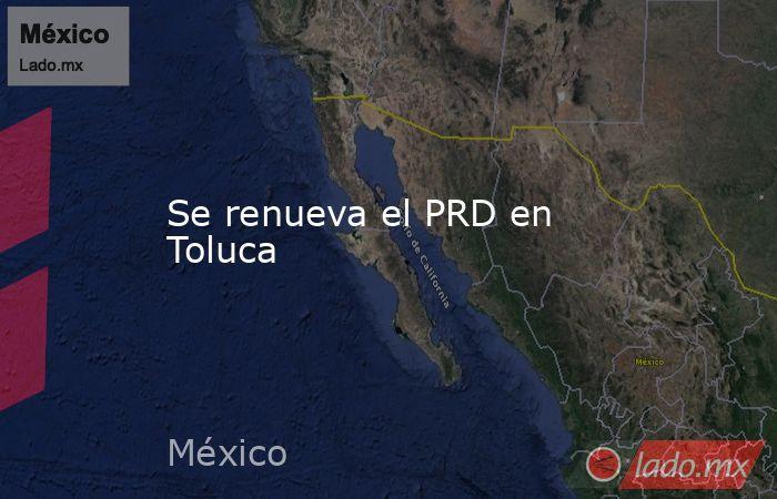 Se renueva el PRD en Toluca. Noticias en tiempo real