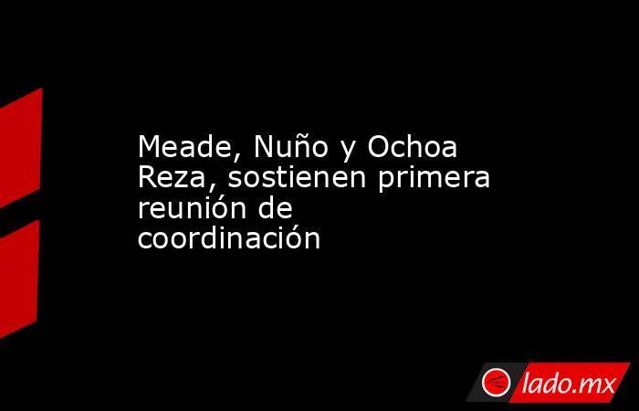Meade, Nuño y Ochoa Reza, sostienen primera reunión de coordinación. Noticias en tiempo real