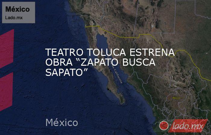 """TEATRO TOLUCA ESTRENA OBRA """"ZAPATO BUSCA SAPATO"""". Noticias en tiempo real"""