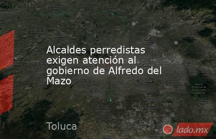 Alcaldes perredistas exigen atención al gobierno de Alfredo del Mazo. Noticias en tiempo real