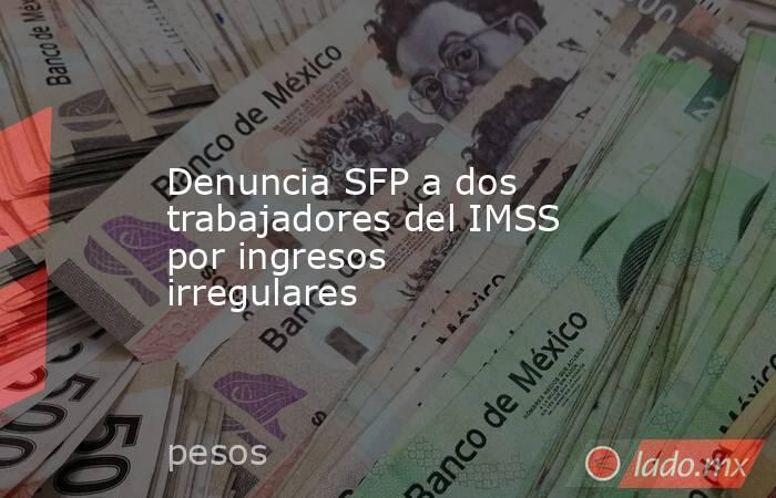 Denuncia SFP a dos trabajadores del IMSS por ingresos irregulares. Noticias en tiempo real