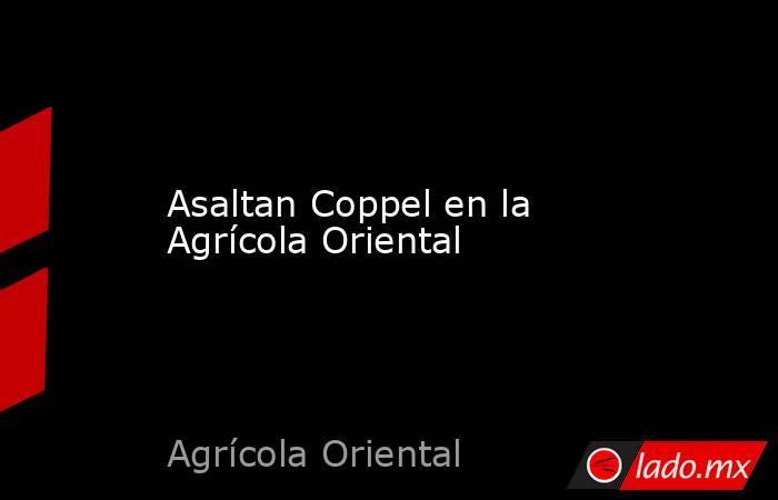 Asaltan Coppel en la Agrícola Oriental. Noticias en tiempo real