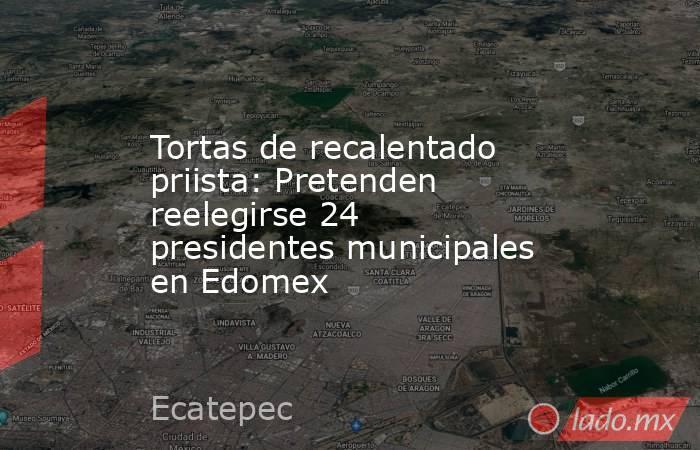 Tortas de recalentado priista: Pretenden reelegirse 24 presidentes municipales en Edomex. Noticias en tiempo real
