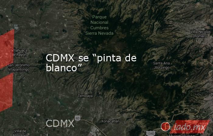 """CDMX se """"pinta de blanco"""". Noticias en tiempo real"""