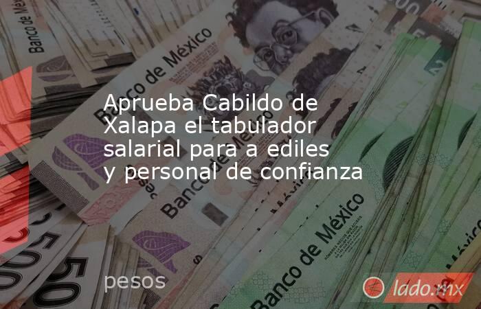 Aprueba Cabildo de Xalapa el tabulador salarial para a ediles y personal de confianza. Noticias en tiempo real