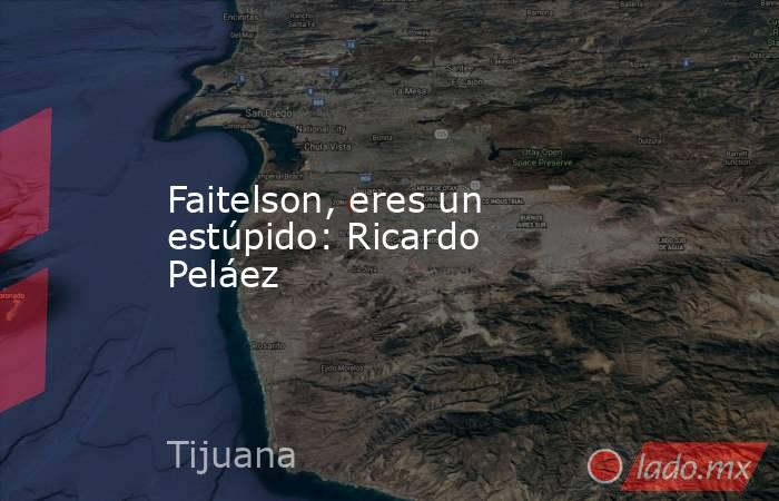Faitelson, eres un estúpido: Ricardo Peláez. Noticias en tiempo real