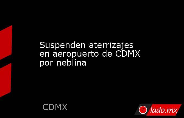 Suspenden aterrizajes en aeropuerto de CDMX por neblina. Noticias en tiempo real