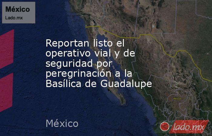 Reportan listo el operativo vial y de seguridad por peregrinación a la Basílica de Guadalupe. Noticias en tiempo real
