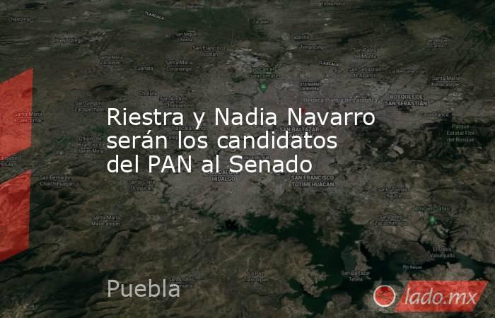 Riestra y Nadia Navarro serán los candidatos del PAN al Senado. Noticias en tiempo real