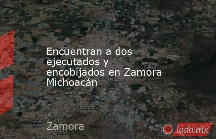 Encuentran a dos ejecutados y encobijados en Zamora Michoacán. Noticias en tiempo real