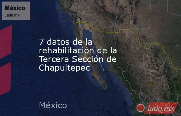 7 datos de la rehabilitación de la Tercera Sección de Chapultepec. Noticias en tiempo real
