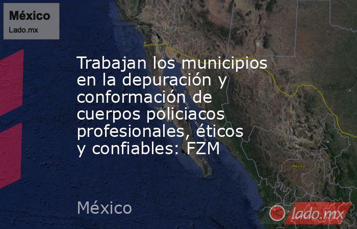 Trabajan los municipios en la depuración y conformación de cuerpos policiacos profesionales, éticos y confiables: FZM. Noticias en tiempo real