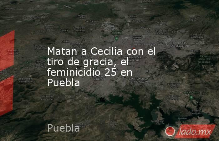 Matan a Cecilia con el tiro de gracia, el feminicidio 25 en Puebla. Noticias en tiempo real