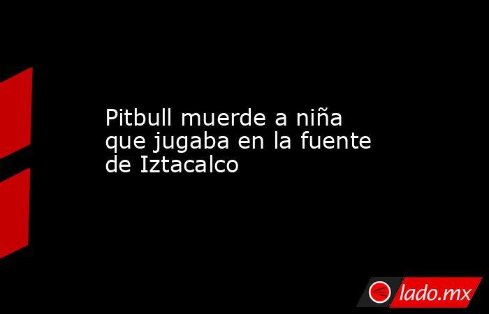 Pitbull muerde a niña que jugaba en la fuente de Iztacalco. Noticias en tiempo real