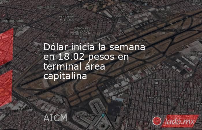Dólar inicia la semana en 18.02 pesos en terminal área capitalina. Noticias en tiempo real
