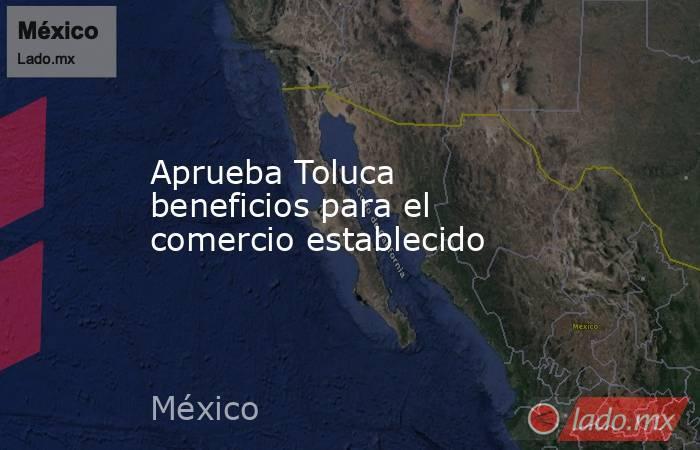 Aprueba Toluca beneficios para el comercio establecido. Noticias en tiempo real