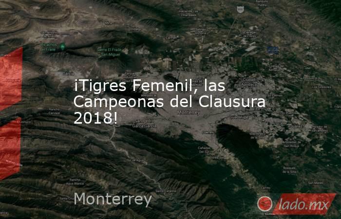 ¡Tigres Femenil, las Campeonas del Clausura 2018!. Noticias en tiempo real